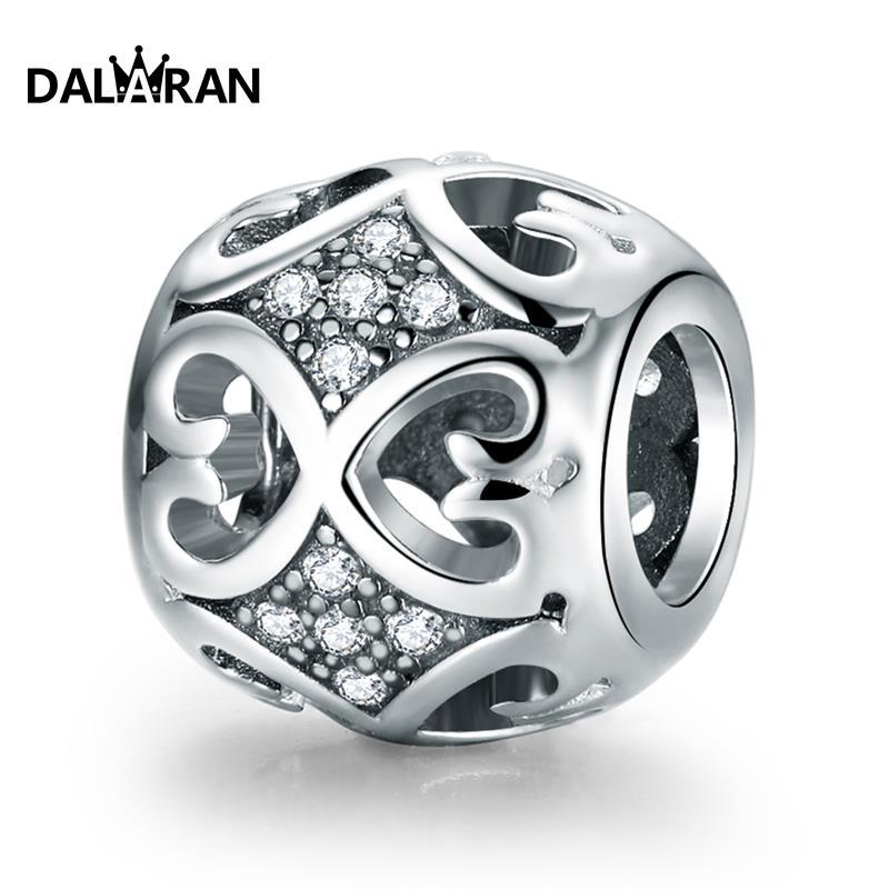 Dalaran 925 contas de prata esterlina ajuste charme pulseira colar diy jóias de moda para mulher