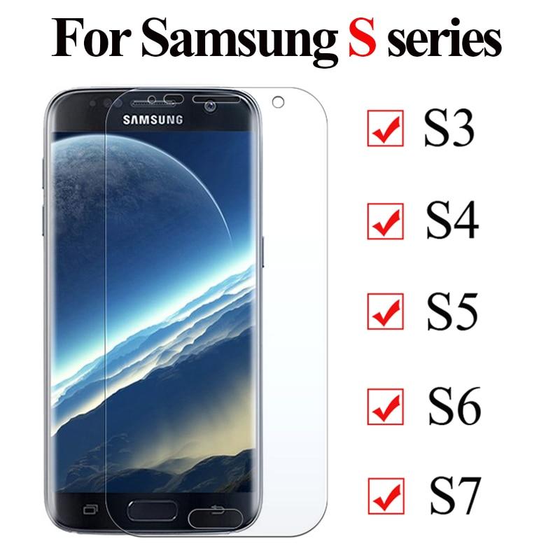 Vidrio protector para Samsung galaxy s7 s6 s5 s4 s3 2.5D vidrio templado para Galaxy S4 mini 7 6 4 3 5mini película protectora de pantalla 9H