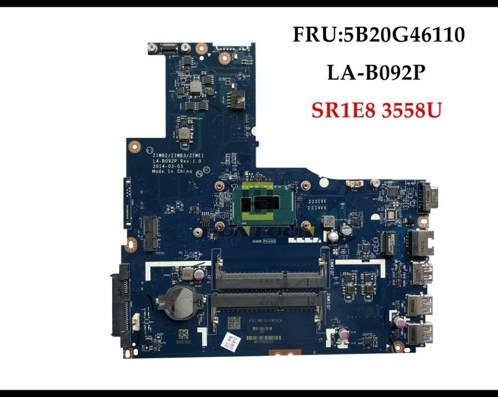 Nuevo ZIWB2/ZIWB3/ZIWE1 LA-B092P para Lenovo B50-70 portátil placa base FRU 5B20G46110 SR1E8 3588U DDR3L 100% probado