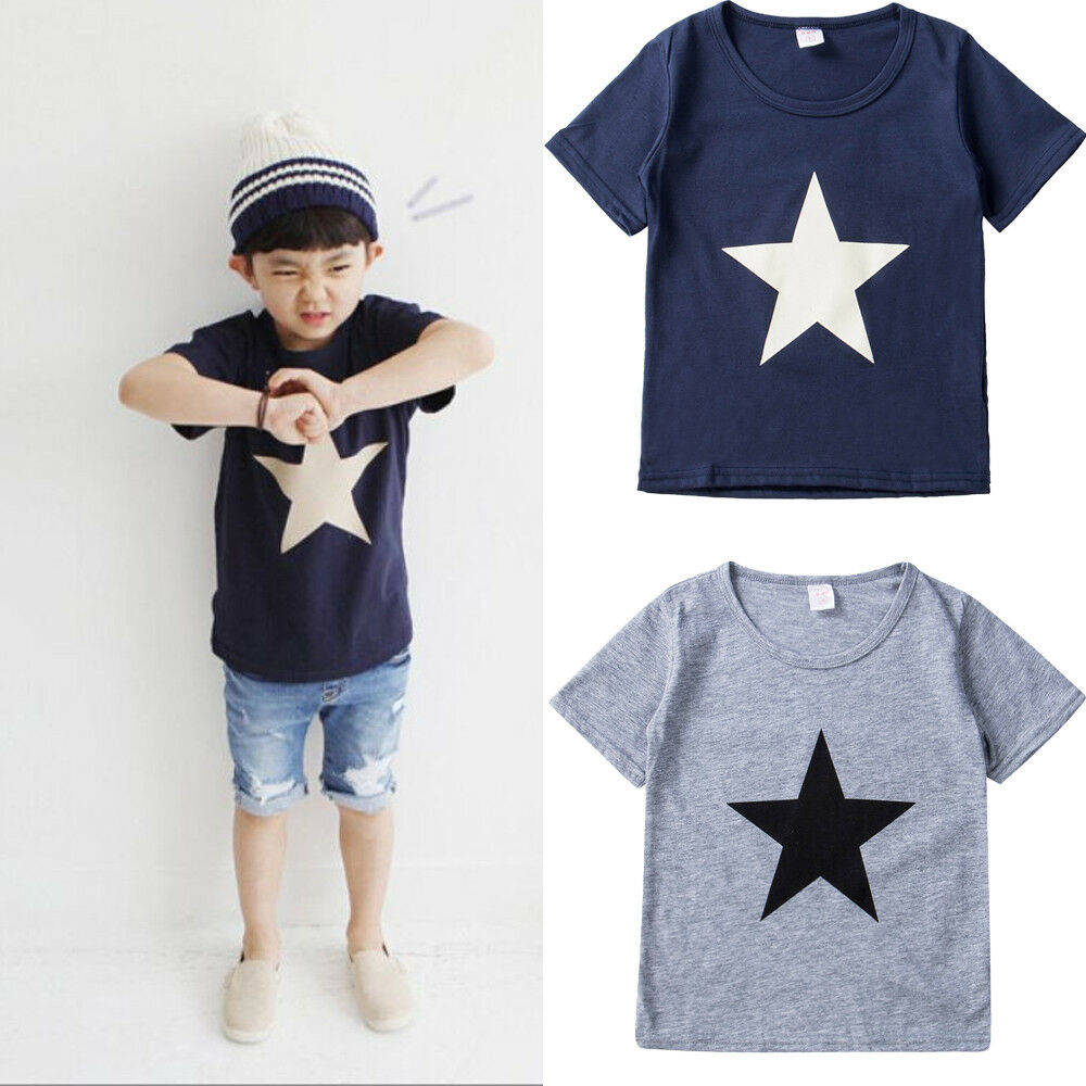 Новинка 2019, лидер продаж, Очаровательная летняя футболка для маленьких детей, для мальчиков, милые детские топы с короткими рукавами, футболка, размер для 2-7 лет
