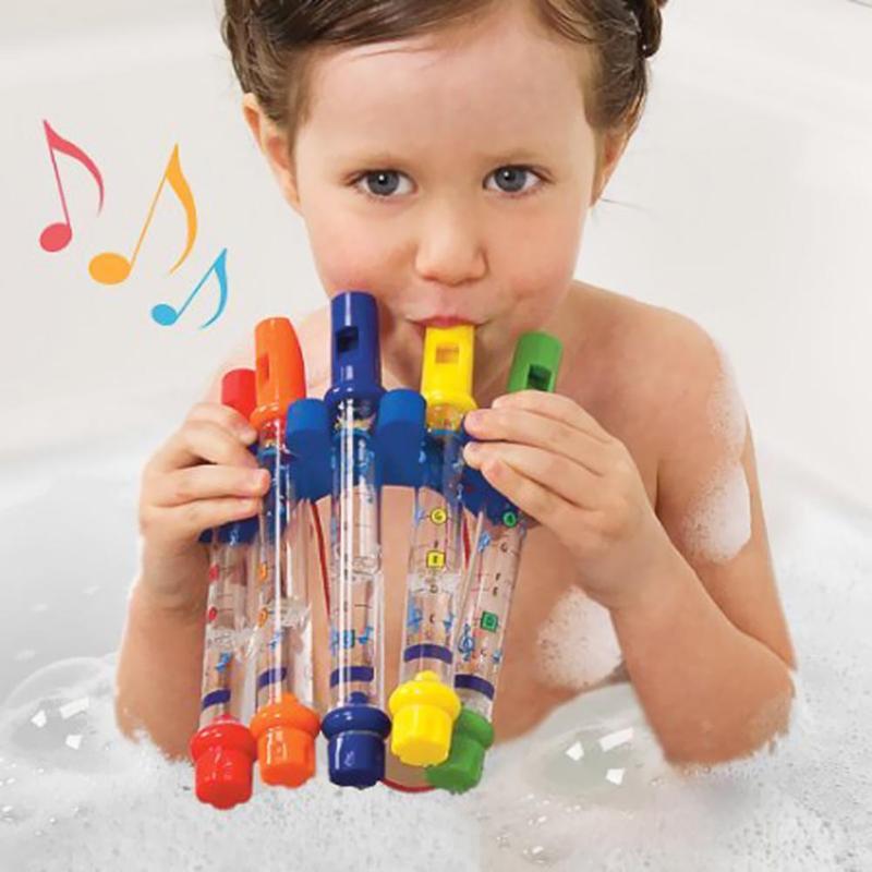 1 flauta de agua de juguete para niños, música para ducha, bañera, melodías, flauta de agua, juguetes coloridos, juguetes de baño, música, sonidos, Baby Shower, juguete de baño