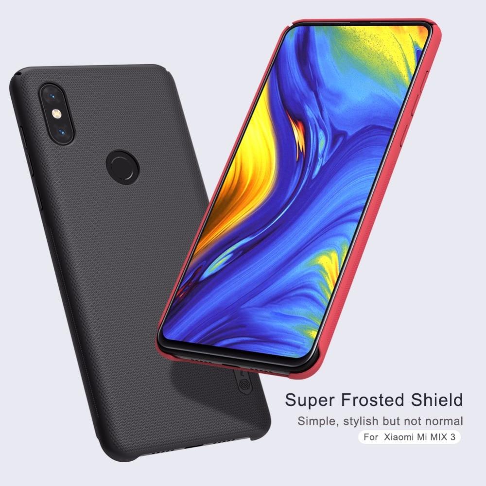 Para Xiaomi Mi Mix 3 funda Mi Mix 3 funda NILLKIN Frosted Shield mate Hard PC funda trasera para Xiaomi Mi Mix3