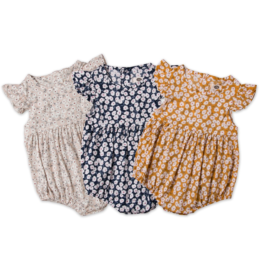 Pudcoco, peleles de flores para bebés recién nacidos, ropa de verano para niñas, mono con volantes, mono, pelele