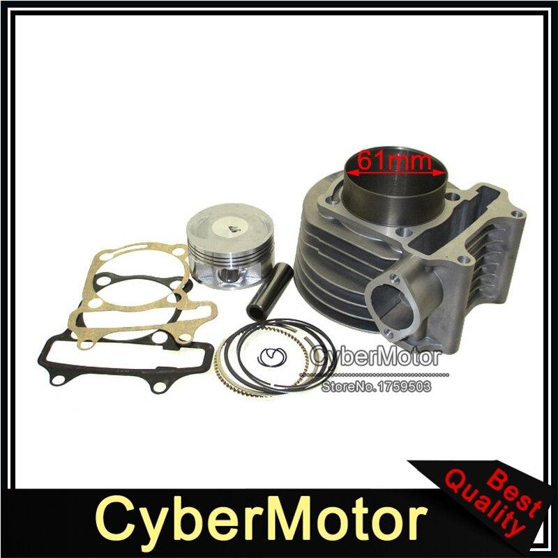 180cc цилиндр 61 мм большой диаметр комплект для GY6 125cc 150cc 1P52QMI 1P57QMJ двигатель Скутер мопед ATV Quad