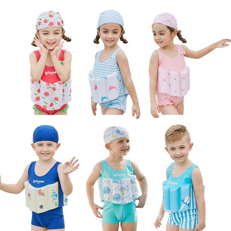 Traje de baño para niños, chaleco salvavidas de seguridad flotante, traje de baño de una pieza para nadar en la playa