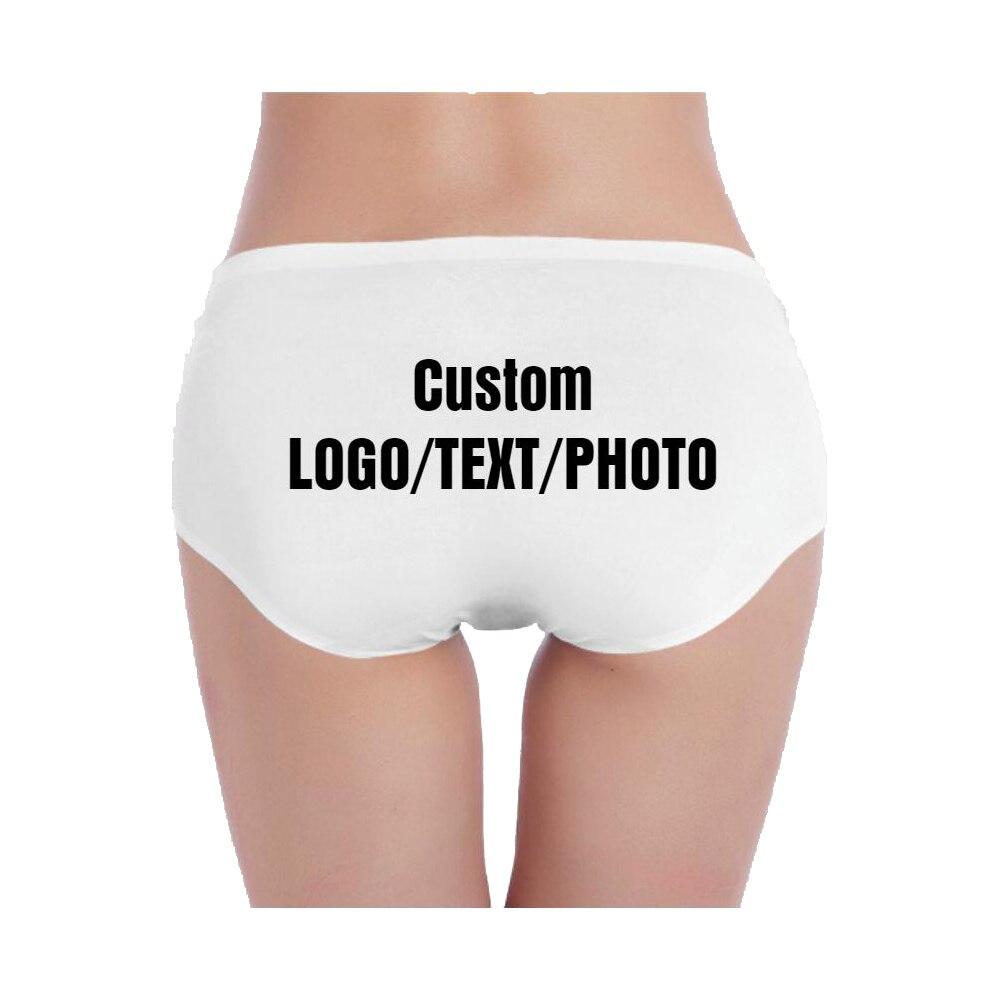 Женское Бесшовное нижнее белье из мягкого хлопка на заказ, нижнее белье с логотипом/текстом/фото