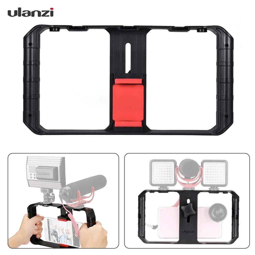 Ulanzi U-Vídeo Rig Rig Pro Smartphone com Montagens de Calçados 3 Caso Telefone Handheld Estabilizador De Vídeo Pega Tripé suporte de Cinema