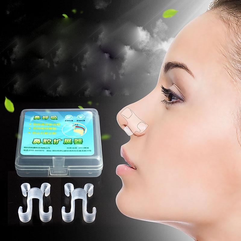 2 piezas dormir equipos Anti ronquido Clip de la nariz deja de roncar Anti-ronquidos respirar ayuda para ronquido Dispositivo de atención de la salud herramienta