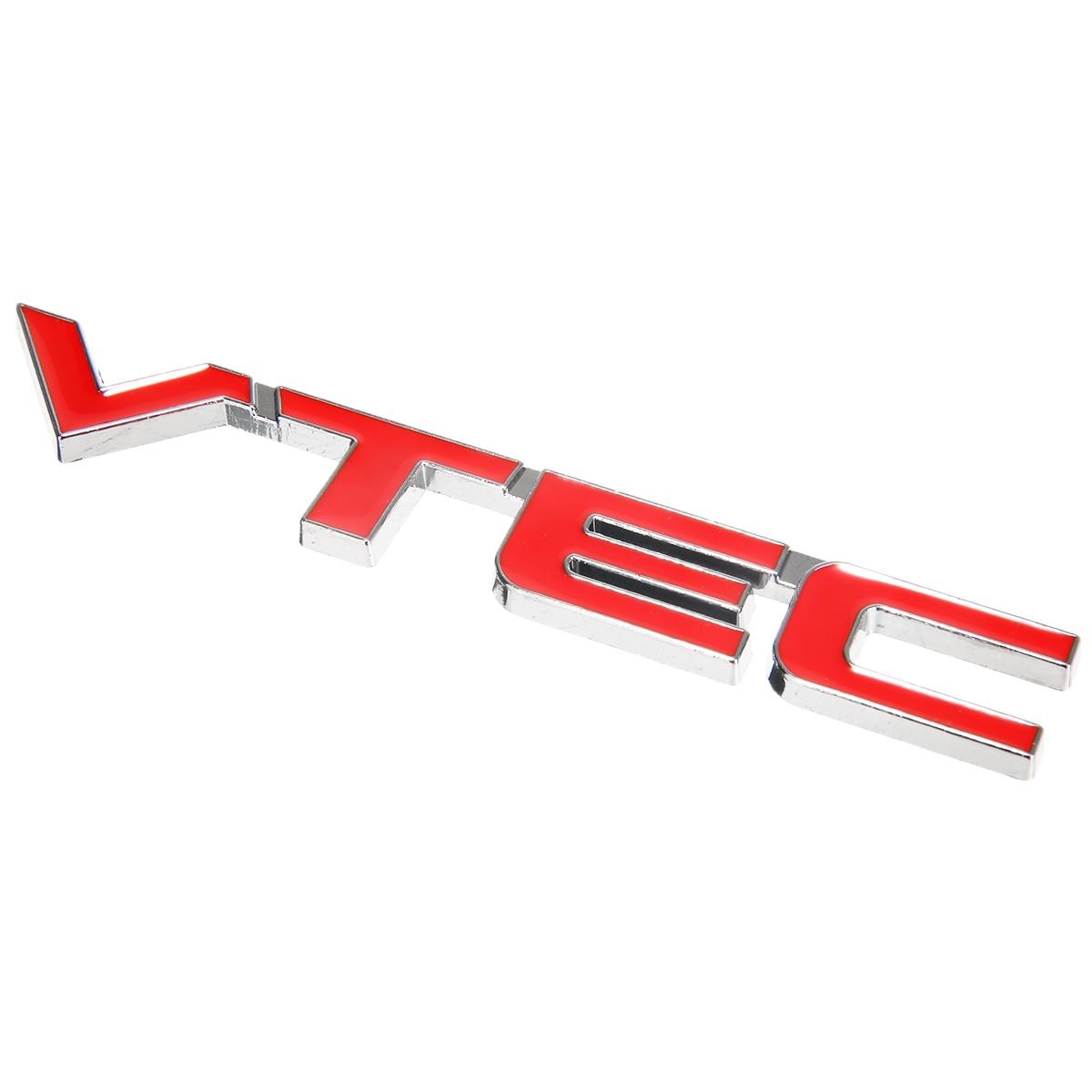 Mayitr 3D VTEC Metal Car Styling Refit Emblem Fender Tail Body Badge Sticker Decal for Honda Civic Accord Odyssey Spirior CRV