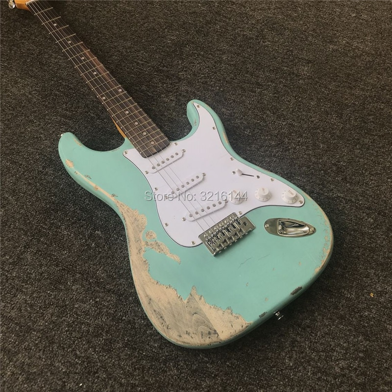 In stock. Manual do old guitars, , restore ancient ways relics electric guitar,Light green real photos, wholesale and retail