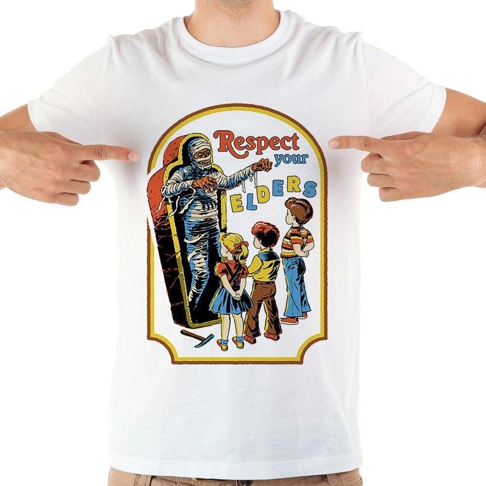 Respeto a sus ancianos divertida camiseta hombres marca jollypeach blanco nuevo de manga corta casual homme cool camiseta