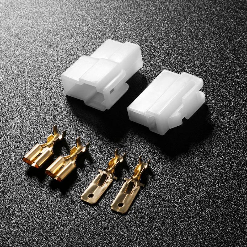 6/30/60pcs Universal T-Type 2 Pin DC Power Male Female Connector Plug for Kenwood Yaesu Icom Vehicular Radio Walkie Talkie
