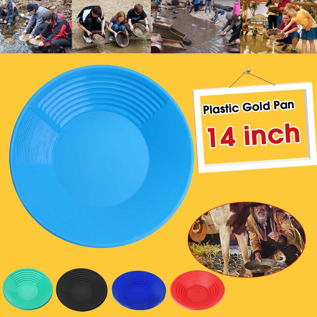 ZEAST, 1 pieza, sartén de oro de plástico azul para Cuenca, Nugget para minería, herramientas de dragado de oro