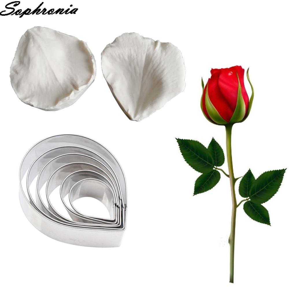 Силиконовая форма для помадки в виде лепестков розы, инструменты для украшения тортов, шоколадная клейкая паста, сахарное ремесло, шоколадн...