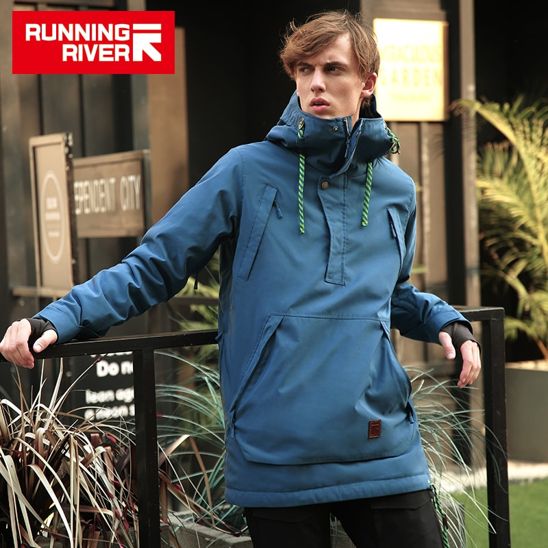 RUNNING RIVER Brand Men Snowboarding Hoodie 2018 High Quality Hooded Sports  Snowboarding Jacket 4 Colors 5 Sizes #A8028