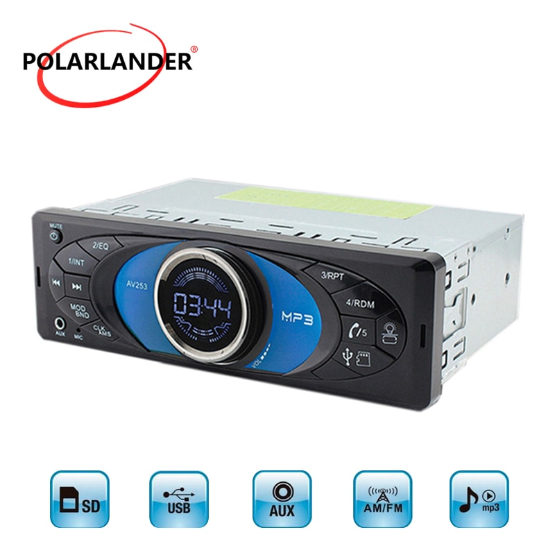 Multimedia auto autoradio Bluetooth 1 Din reproductor de música MP3 admite Bluetooth USB TF AUX FM Radio de coche de 2,5 pulgadas