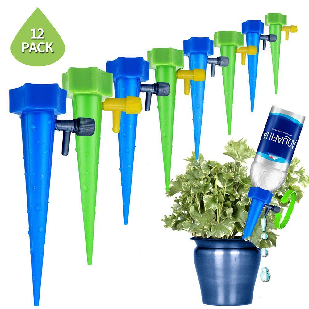 10/12 PCS Indoor Sistema de Rega Automático de Rega de Spike para Plantas de Flor Garrafa de Água de Irrigação Por Gotejamento