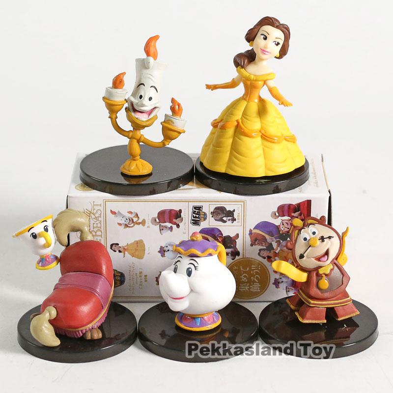 WCF Banpresto Classic Characters vol.4 Beauty and the Beast Belle PVC Figures Toys 5pcs/set