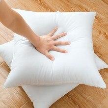 1 pz classico 10 dimensioni solido puro cuscino nucleo divertente morbido cuscino per la testa interno in cotone PP riempimento cuscino sanitario personalizzato riempimento
