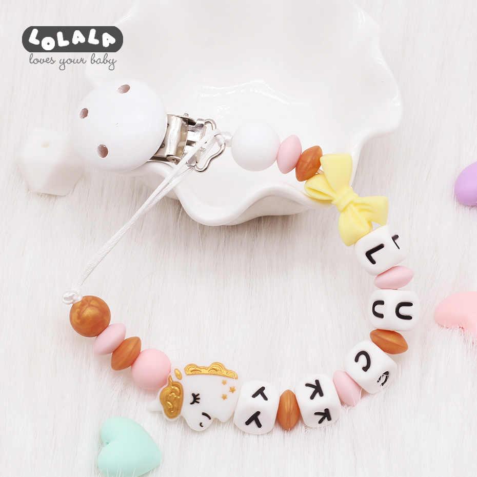 Nuevo De Silicona Bebé Chupete Clip Nombre Personalizado Lazo Cadena De Chupete De Bebé Chupete Para La Dentición Juguete Clips Para Chupetes Ducha Regalo Chupete Aliexpress