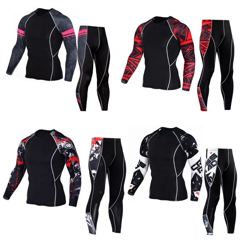 Traje deportivo de compresión para hombre, ropa interior térmica para deportes de invierno, traje para correr, mallas, entrenamiento, traje de unión para hombre