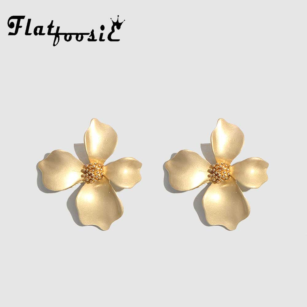 Flatfoosie-boucles doreilles tendance en métal, mode coréenne, bijoux tendance, Vintage, tendance, tendance, tendance, tendance, vente en gros