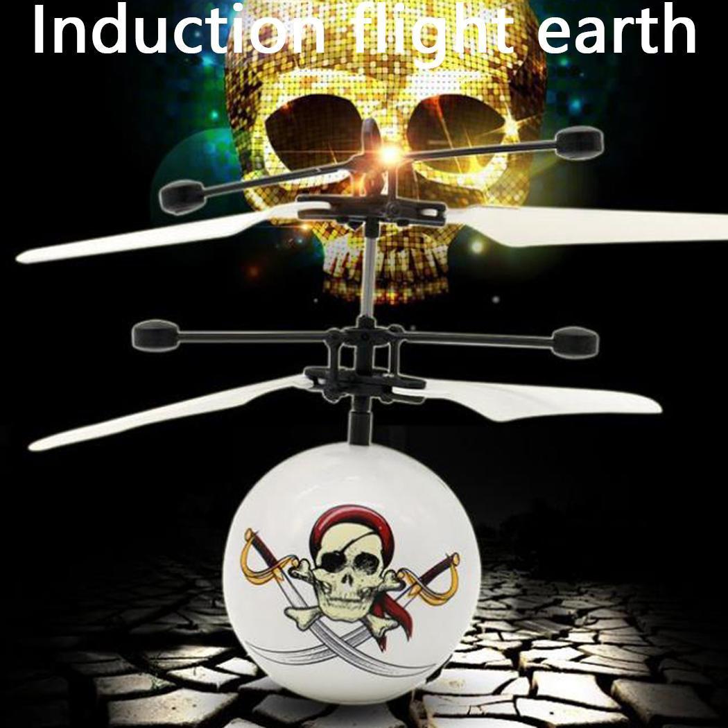 Inducción de juguete volador calavera forma de hueso inteligente 30 minutos suspendiendo más de 14 años de edad juguete de avión