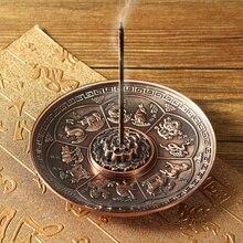 Retro 5 Löcher Lotus Weihrauch Brenner Drachen Weihrauch Halter Stick Kegel Räuchergefäß Platte Buddhismus 2 Farben Home Büro Dekoration Handwerk