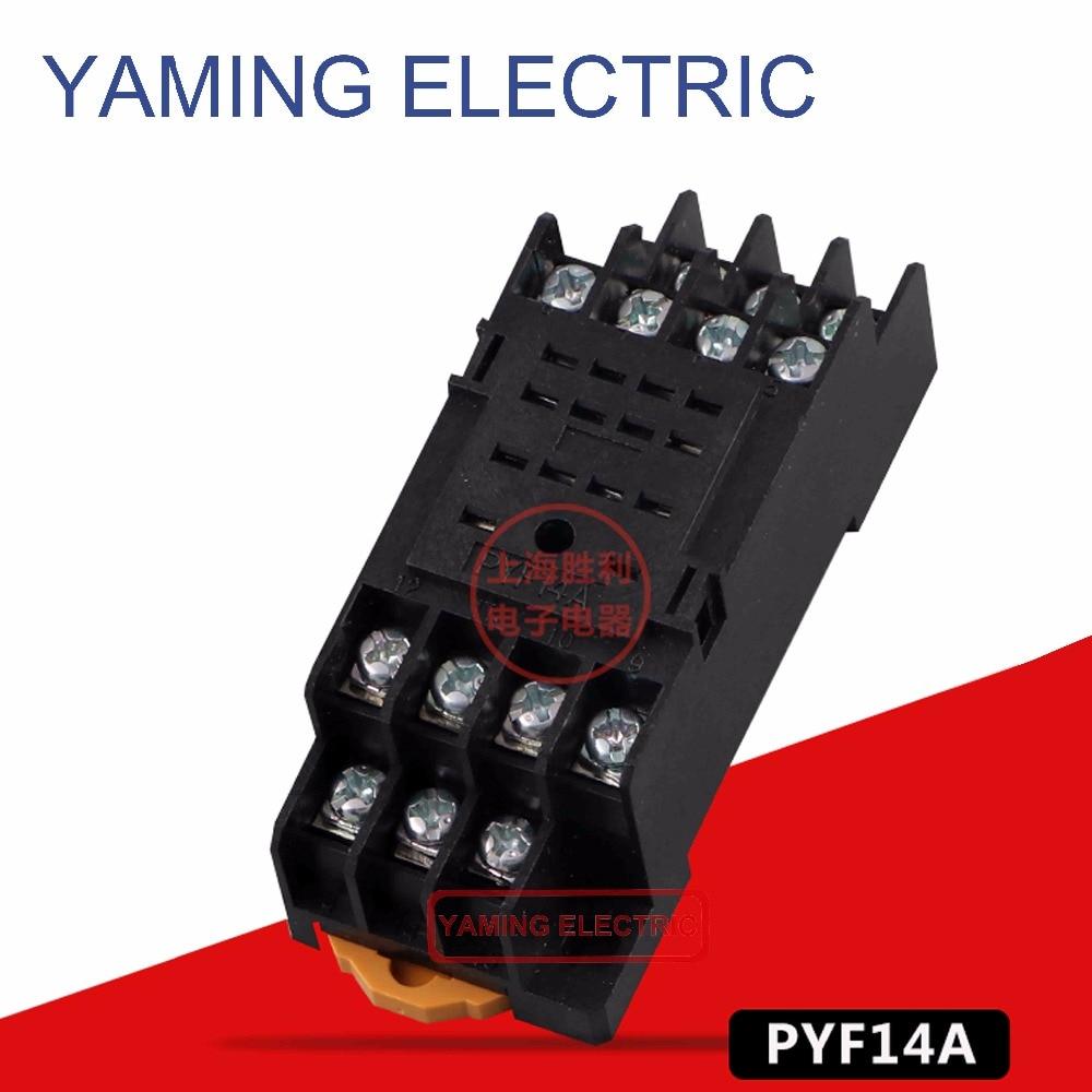 P51 PYF14A 14 Pin клеммное основание релейного разъема черный для MY4NJ основание HH54P электромагнитное реле питания основание din-рейки