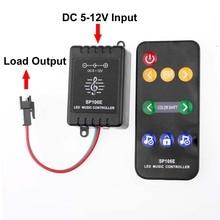 SP106E Pixel Led Controller DC 5V 12V WS2811 WS2812 WS2812B Led Rgb Controller RF Music Remote Control for Led Strip Light
