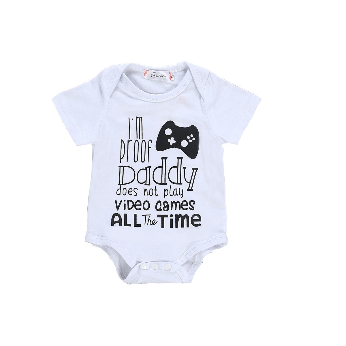 Brand New Newborn Toddler Infant Baby Boy Girl Bodysuits Short Sleeve Summer Letter Dad Bodysuit Jumpsuit Clothes Sunsuit