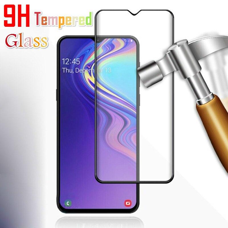 Película de vidro temperado para samsung, a30 a40 a50 a70 galaxy m10 m20 s10e a6 a8 j4 j6 plus a750 a7 película protetora de tela a9 2018