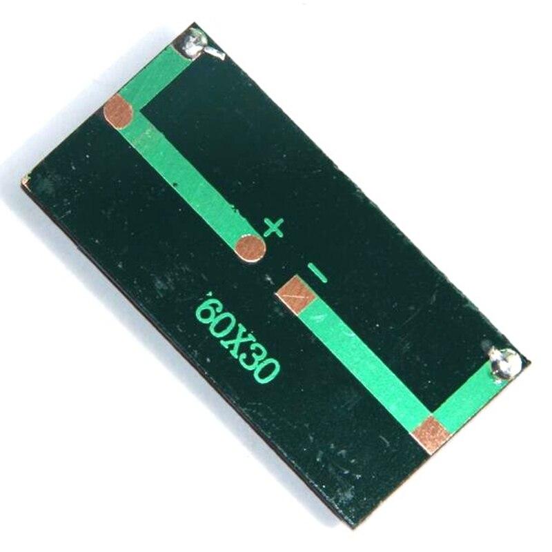 Panel Solar Mini 0,2 W 1,5 V 60x30Mm sistema de Panel de energía Diy batería celular cargador módulo portátil Panneau Solaire tablero de energía, 5P