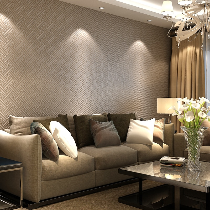 New Simple Modern Chinese Non-woven Wallpaper Tv Backdrop Living Room Study Style