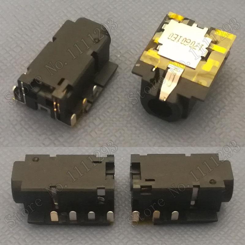 5 pçs/lote conector de tomada de áudio jack para dell latitude 3460 3560 7370 7490 chromebook 7310 etc portátil fone de ouvido porto combinado 7-pin