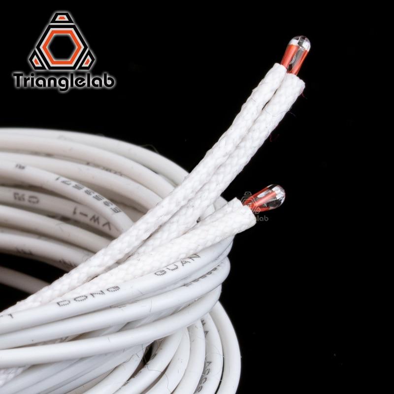 2 pièces ATC Semitec 104GT-2 104NT-4-R025H42G thermistance avec gaine en fibre de verre isolante pour lit hotend haute température 280℃