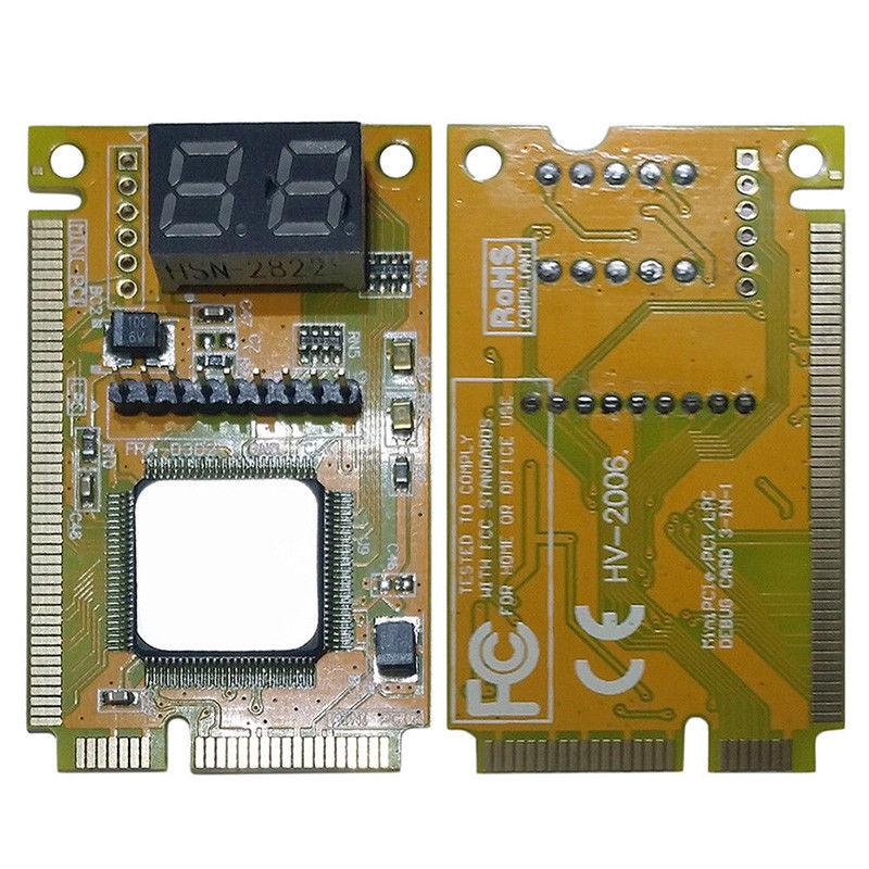 Ordenador portátil de 2 dígitos, PC Mini PCI PCI-E LPC, Analizador de portátil, probador, placa madre, comprobador de depuración, tarjeta de diagnóstico-SCLL