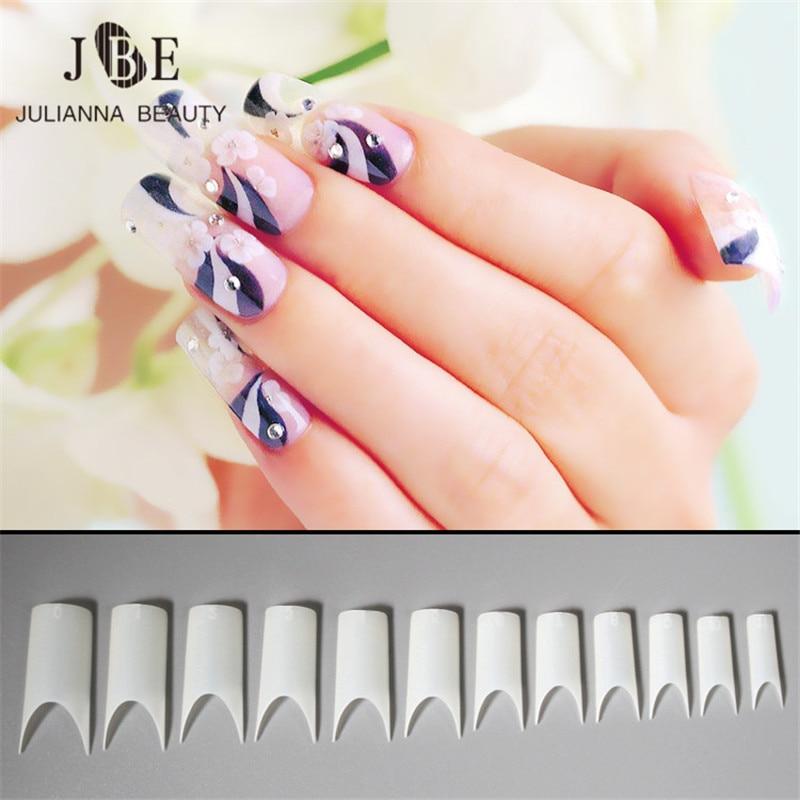 500 pcs C Curved Matte Fake Nail Natural White French Acrylic Nail Art Half Cover ABS False Nails Unhas Nagel Tips 10 Sizes