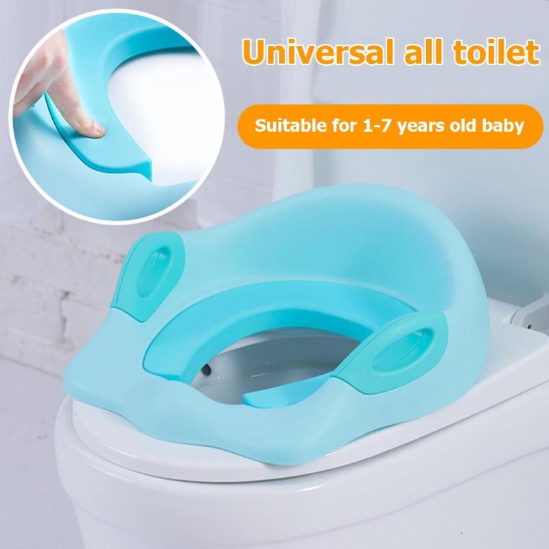 Bebé aseo baño viaje de asiento de orinal plegable asiento reposabrazos para niñas niño baño formación inodoro portátil silla Pad urinario cojín
