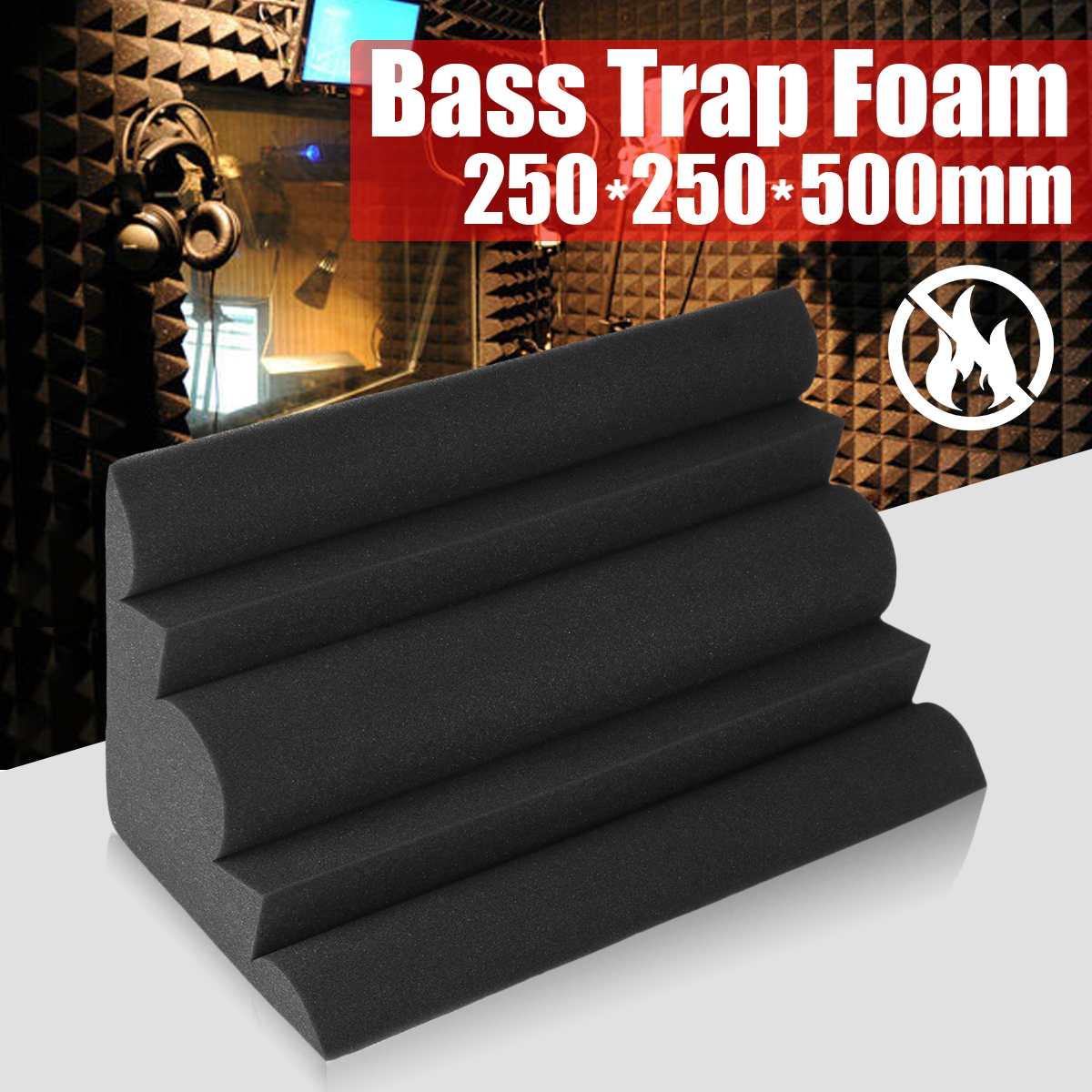 Trampa acústica para bajos de 250x250x500mm, espuma acústica para esponja insonorizada de paredes y esquinas, azulejos de espuma para absorción de habitación de estudio