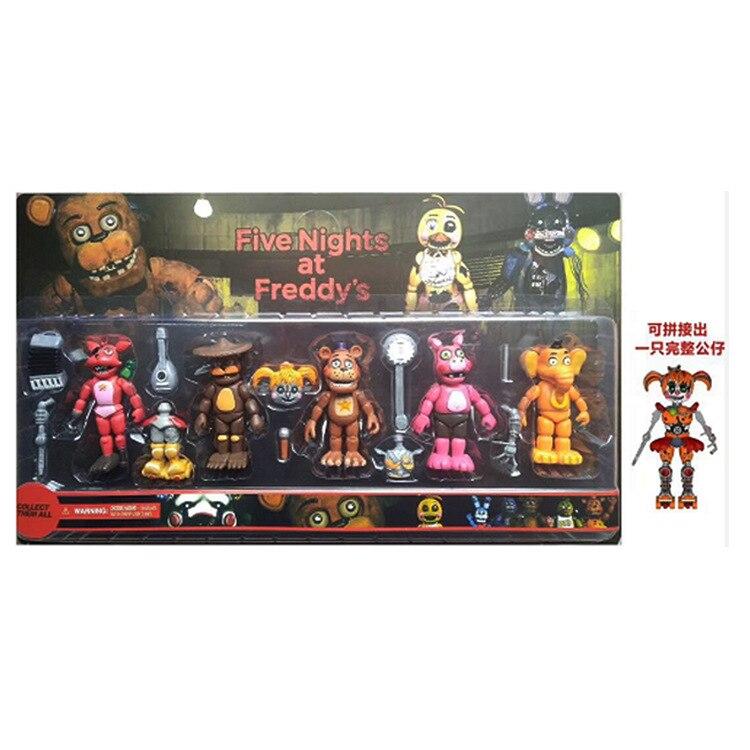 6 unids/set articulaciones movibles cinco noches en Freddys Toys Foxy Freddy Chica modelos de muñecas en PVC Nightmare chico Toys al por mayor