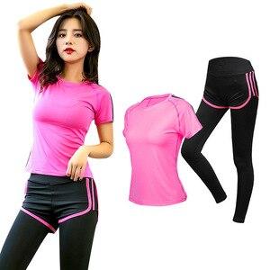 Women Yoga Set Gym Set Women Sportswear Quick Dry Fitness Clothes For Women Shirt+trousers Jogging Workout Sport Suit Plus Size