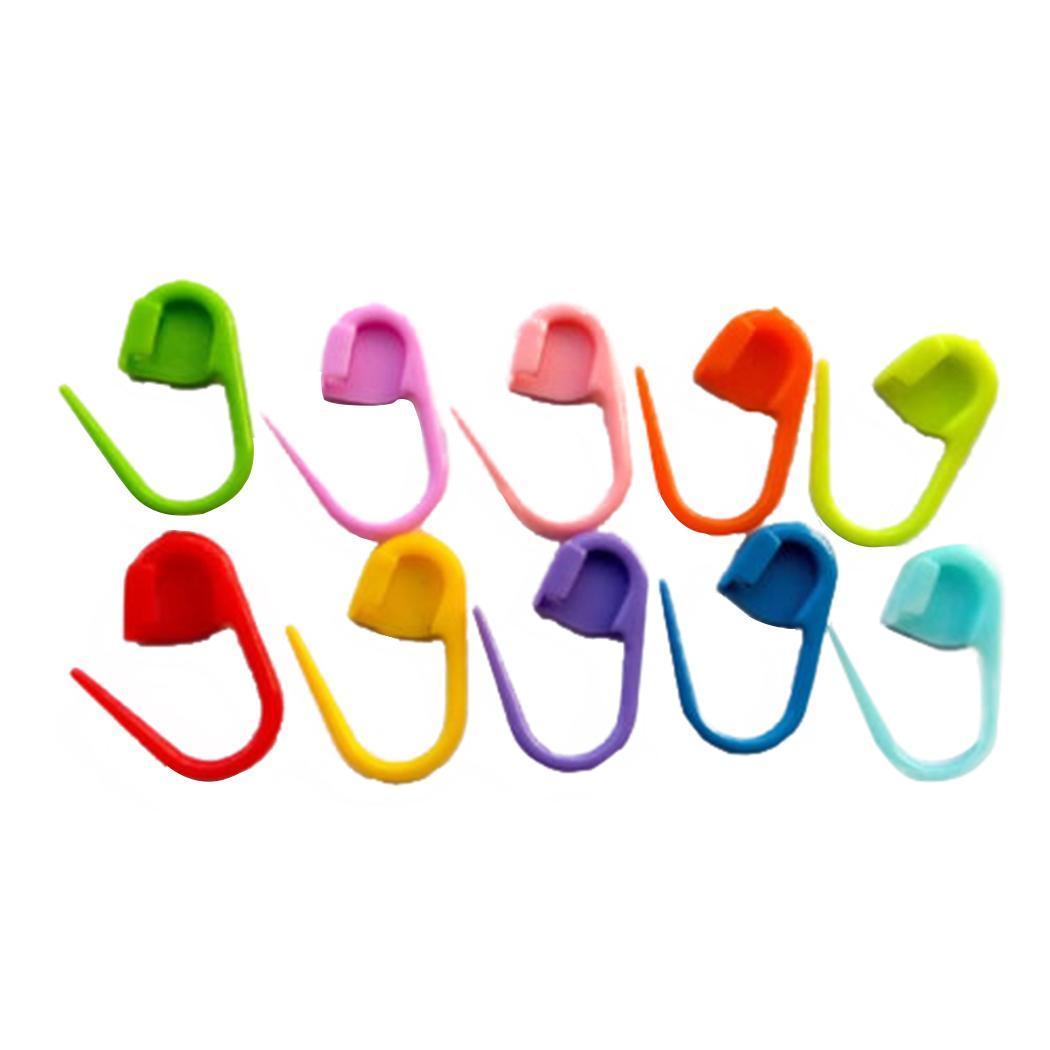 Marcadores de Clip de costura 100 Uds. Ganchos de tejido de plástico 100 Uds. Agujas de ganchillo nuevo producto color mezclado para suministros modernos para el hogar