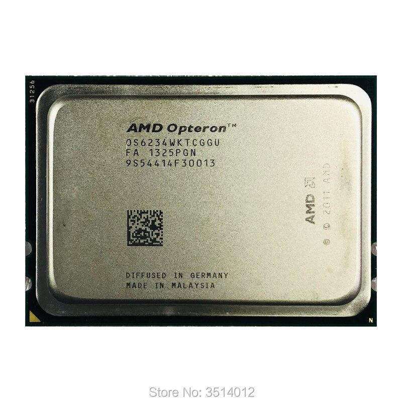 AMD Opteron 6234 Op 6234 2,4 GHz, procesador de CPU de 12 hilos de 115W, procesador OS6234WKTCGGU Socket G34