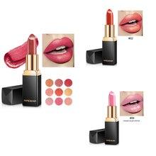 Marca handaiyan maquillaje camaleón pintalabios de larga duración perla brillo de labios de moda lápiz de labios de terciopelo rojo, maquiagem TSLM2