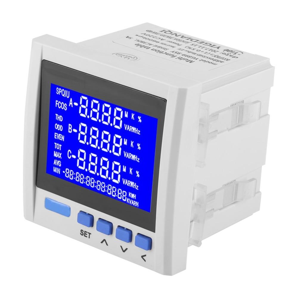 Medidor de energia de freqüência de tensão de corrente elétrica de 3 fases de alta qualidade