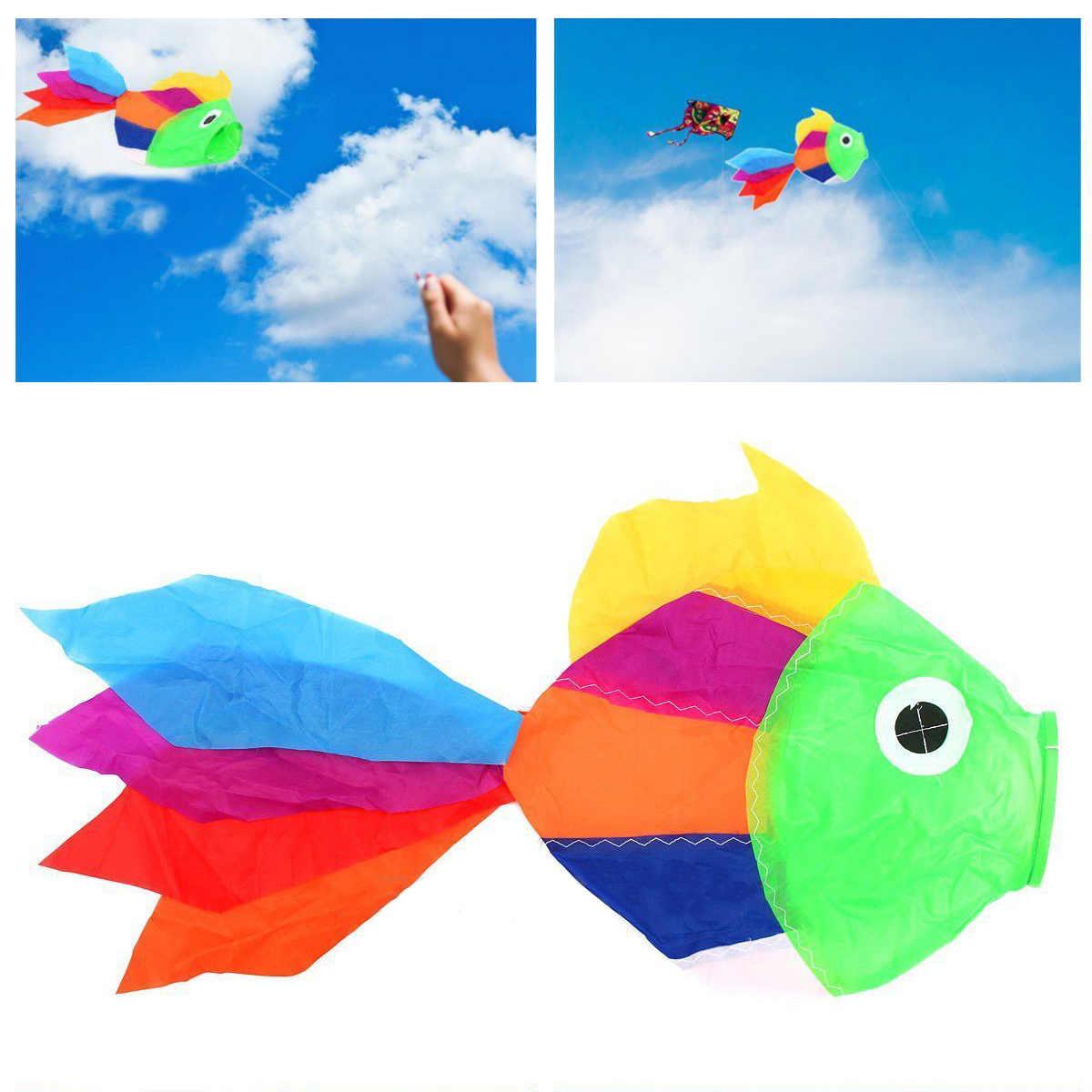 JX-LCLYL Arco Iris pez Windsock Streamer Kite deportes al aire libre jardín tienda Festival bandera nuevo