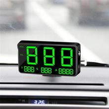 HUD GPS numérique C80 voiture   Écran numérique, affichage de la tête du pare-brise, projecteur de vitesse numérique, alarme de survitesse pour tous les véhicules