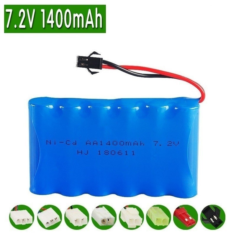 7.2V 1400mAh Battery and Charger Remote Controul toys lighting secuity faclities 7.2v NiMH battery TOYS Cars Gun battery group