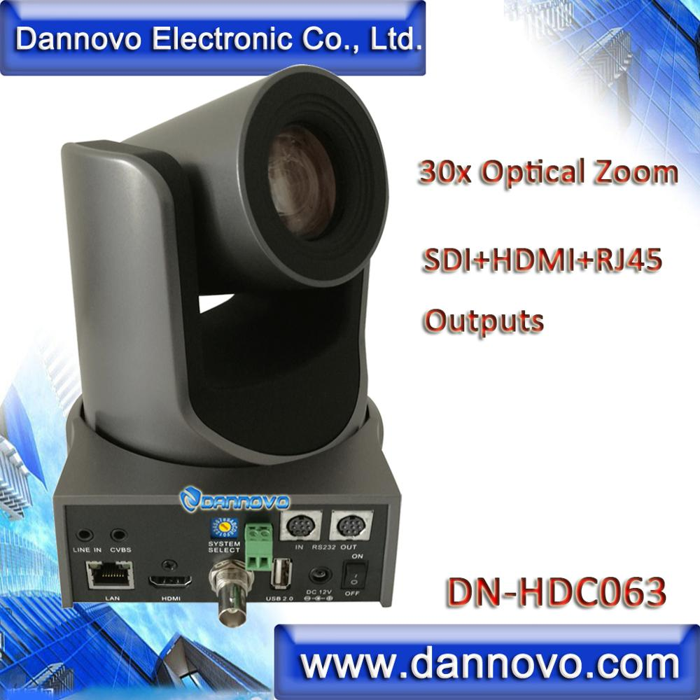 شحن مجاني: داننوفو 30x زووم بصري H.265 لايف IP تدفق SDI كاميرا ، دعم HDMI ، IP RJ45 ، الصوت ، ONVIF (DN-HDC063)